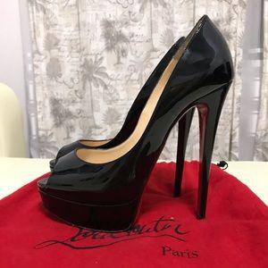 Christian Louboutin Lady Peep 150 patent black